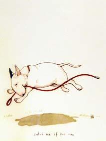 CATCH ME IF YOU CAN Konstkort A4 av Lisa Carlstedt  1 st 30:- eller 4 st 100:-