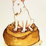SITTA BULLE Konstkort A4 av Lisa Carlstedt  1 st 30:- eller 4 st 100:-