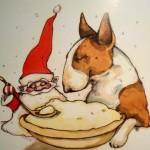 GOD JUL  Julkort av Lisa Carlstedt Pris: 10: – st eller 12 st för 100: –
