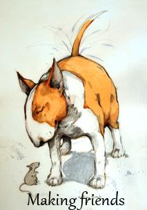 MAKING FRIENDS Konstkort A4 av Lisa Carlstedt  1 st 30:- eller 4 st 100:-