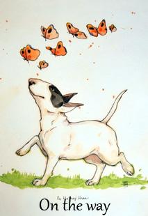ON THE WAY HOME Konstkort A4 av Lisa Carlstedt  1 st 30:- eller 4 st 100:-