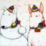 VINTER Konstkort A4 av Lisa Carlstedt  1 st 30:- eller 4 st 100:-
